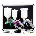 Spraygun Kit, 3 x Guns & Accessories In Case