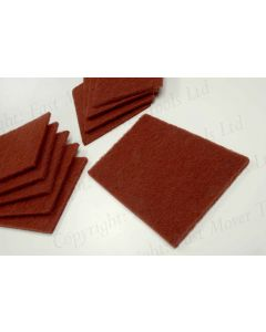 Abrasive Surface Conditioning Pad, Red, 10pcs 150 x225 x 8mm