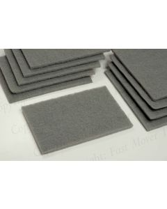 Abrasive Surface Conditioning Pad, Grey, 10pcs 150 x225 x8mm