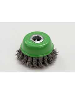 ZIP, Wire Brush Wheel, Green, Cup Shape, Fits 100mm Grinder