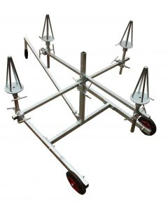 Alloy Wheel Painting Stand, Mobile, Holds 4 Wheels - FMT1800