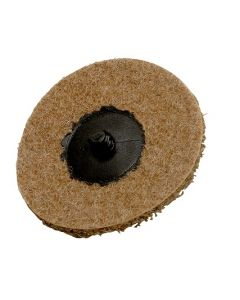 75mm Brown Coarse Non-Woven Conditioning Disc With Roll-On, 25 Discs