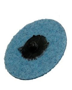 50mm Blue Very Fine Non-Woven Conditioning Disc With Roll-On, 25 Discs