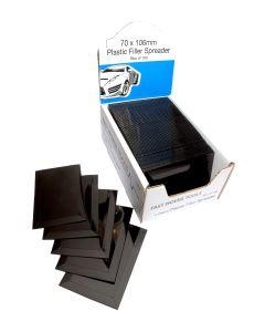 """Filler Spreader 4"""" Plastic Plain Black Box of 100"""