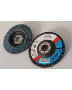 115mm 120 Grit Zirconium Flap Disc With 22.2mm Centre Bore, 10 Discs