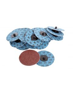 Aluminium Oxide Disc With Roll On Adaptor, 75mm, P120, 20Pcs