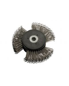 Replacement wire brush wheel and hub assembly for FT1047