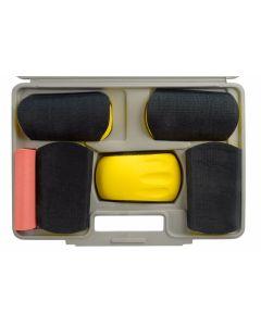 Sanding Kit, Curved Blocks, 6pc in Case