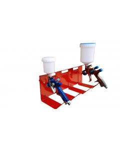Fast Mover Tools, Wall Mounted Gravity Feed Spray Gun Holder, Holds 4 Guns
