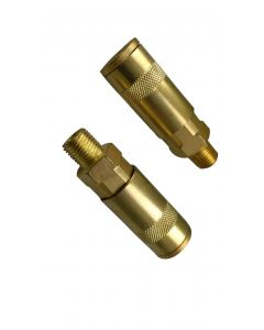 """Air Fitting, Quick Coupler,UK Style, 1/4"""" Male Thread, 2 Pcs"""