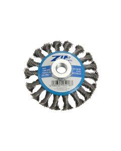 ZIP Wire Brush Wheel, Blue Bevel 95mm M14 Thread for115mm