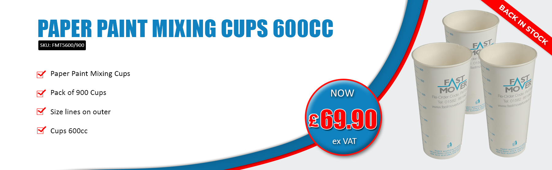 Paper Paint Mixing Cups 600CC