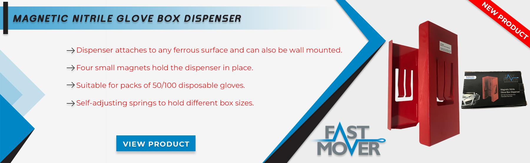 magnetic nitrile glove dispenser